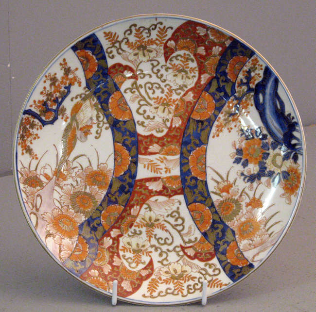 REVISED ESTIMATE £50-80  A Meiji period Fukagowa-style Imari dish