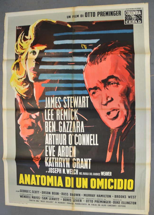 Anatomy of a Murder (1959) Italian 2 Folio film pos | Lot 550 | 10, 2