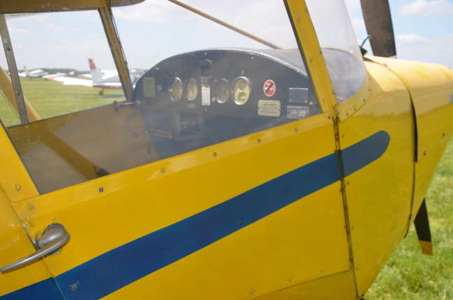 1948 Piper PA-17 Vagabond two seater plane in yellow