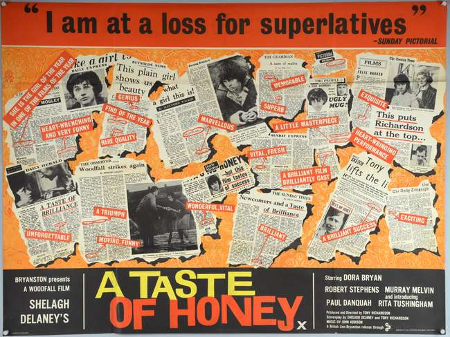 Image result for a taste of honey film poster