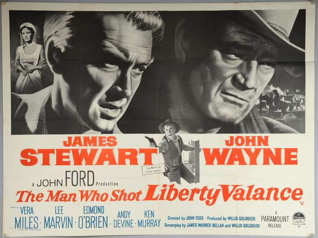 Image result for the man who shot liberty valance poster