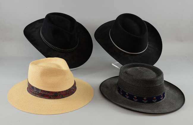 bd39e2083a7 ... Shark (Greg Norman Collection). Prev · Back to List View · Next. Four  wide brimmed hats owned and worn by Sir Christopher Lee including  Akubra  The ...