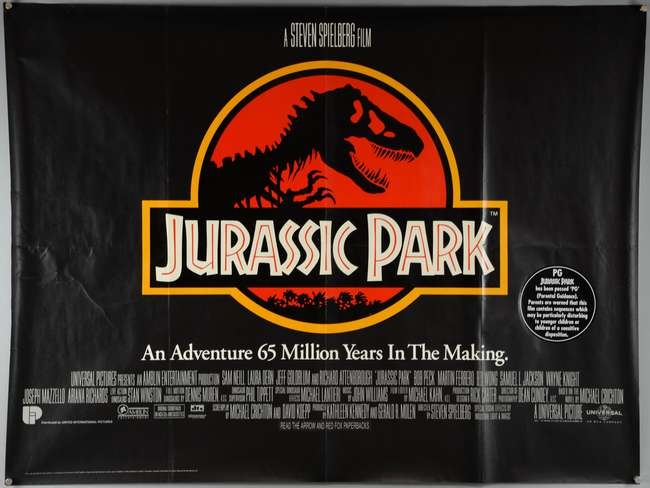 Two British Quads for Jurassic Park (1993) and The Lost