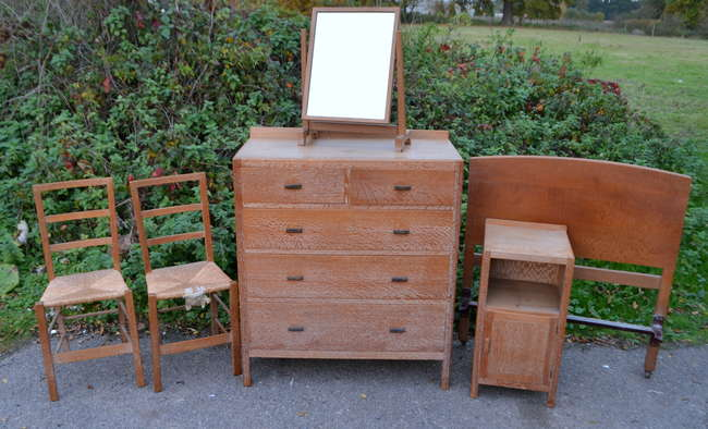 Heals Of London Limed Oak Chest Of Drawers