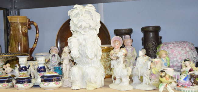 German Meissen seated dog and Continental porcelai | Lot 227 | No cat