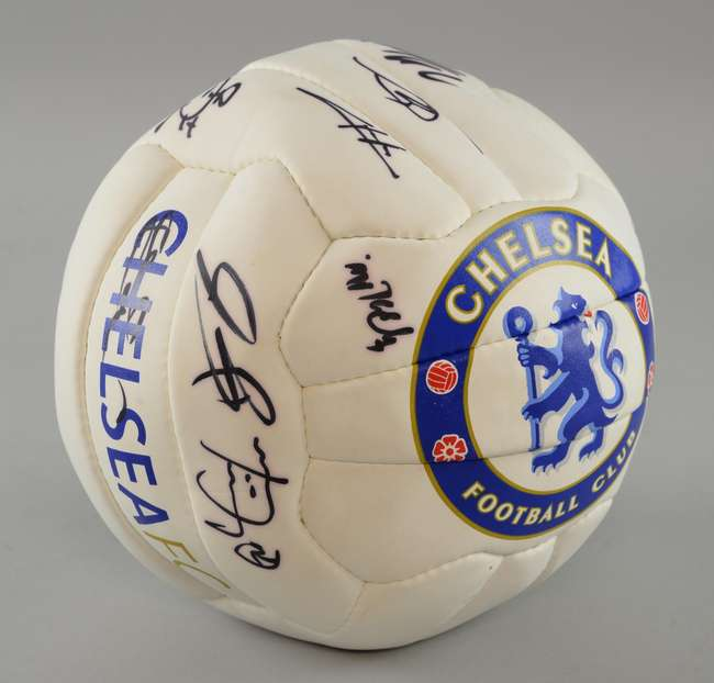 6575be10e37 ... Chelsea Football Club - Fully signed football from the Premier League  squad signed by approx 15