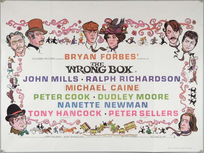 The Wrong Box (1966) British Quad film poster, comedy starring ...