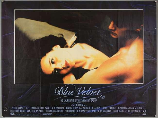 Blue Velvet (1986) British Quad film poster, directed by David ...