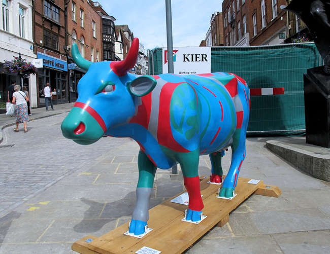 † Highway Cow'd - Standing cow: 95 x 29 x 57.  Artist: Tiffany Budd.  Sponsor: Kier. Charity: The Alzheimer's Society.  †Please note that net proceeds are split between Surrey Hills Trust and the Charity Selected for each cow. VAT is additionally