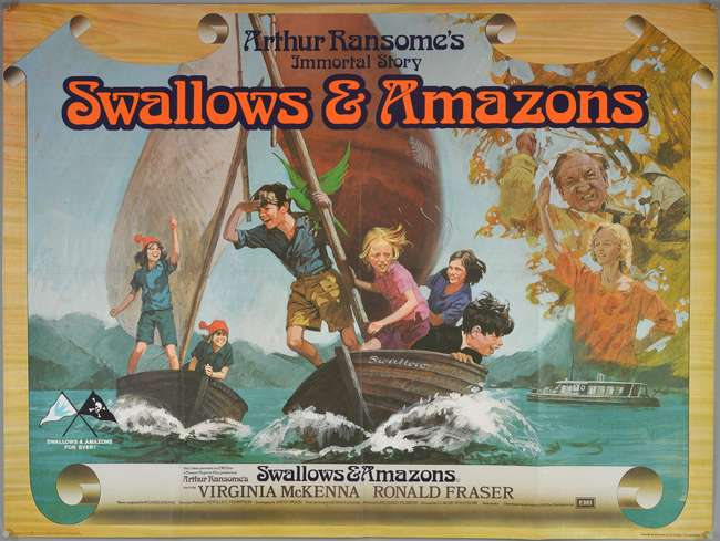 Swallows and Amazons (1974) British Quad film poster, artwork by ...