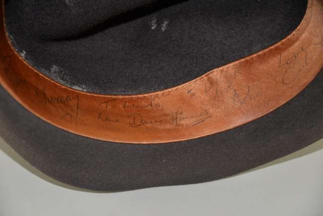a1867cdd426 ... Gary Numan - A fedora signed and inscribed to interior by Gary Newman  and his band ...