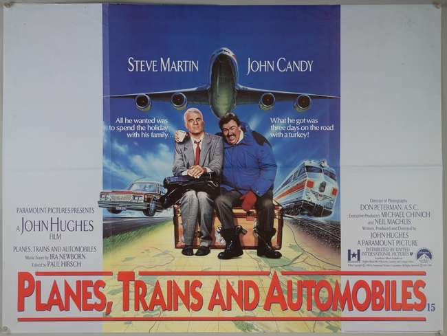 Planes, Trains and Automobiles (1988) British Quad film poster ...
