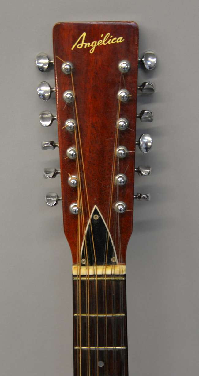 Angelica 12 String Japanese Acoustic Guitar Model Lot 542 No Cat