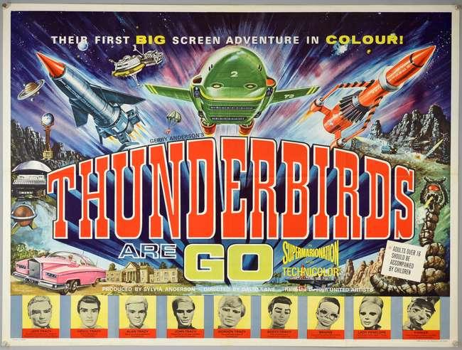 Thunderbirds Are Go (1966) British Quad - auctions & price archive