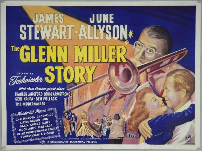The Glenn Miller Story (1954) British Quad film poster, starring ...