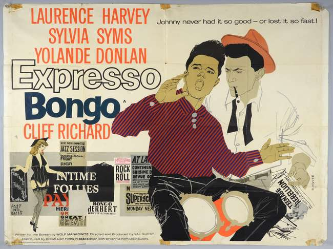 Expresso Bongo (1959) British Quad film poster, starring Cliff ...