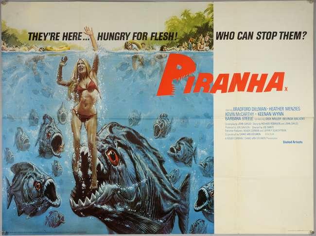 Piranha 1978 British Quad Film Poster Lot 4077 10 Desc 18