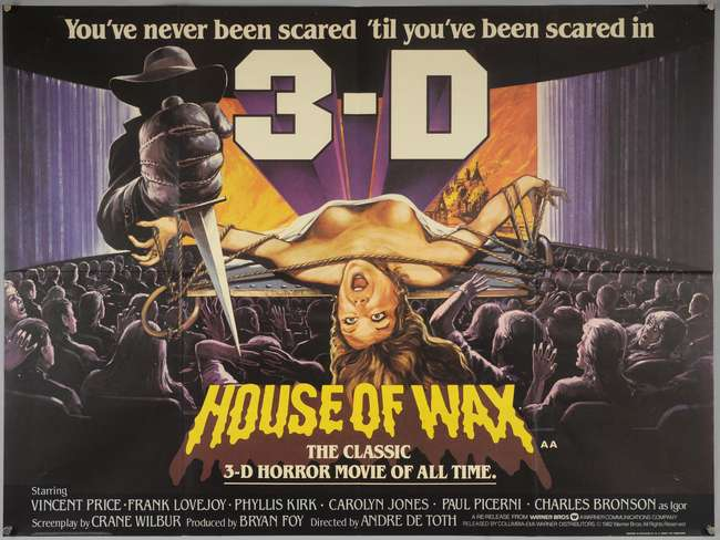 House Of Wax  British Quad Film Poster