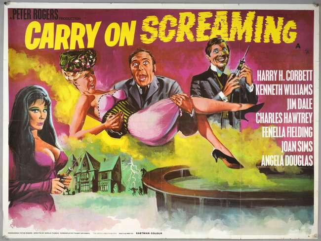 Carry On Screaming (1966) British Quad film poster, artwork by Tom ...