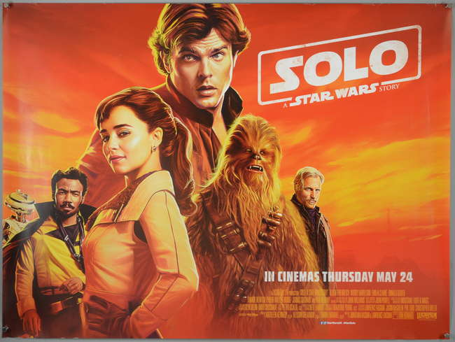 Ewbanks Surrey S Premier Auctioneers Auction 431 Lot 2063 Sort By Solo A Star Wars Story 2018 British Quad Teaser Film Poster