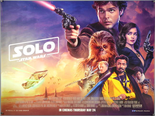 Ewbanks Surrey S Premier Auctioneers Lot 2064 Solo A Star Wars Story 2018 British Quad Film Poster