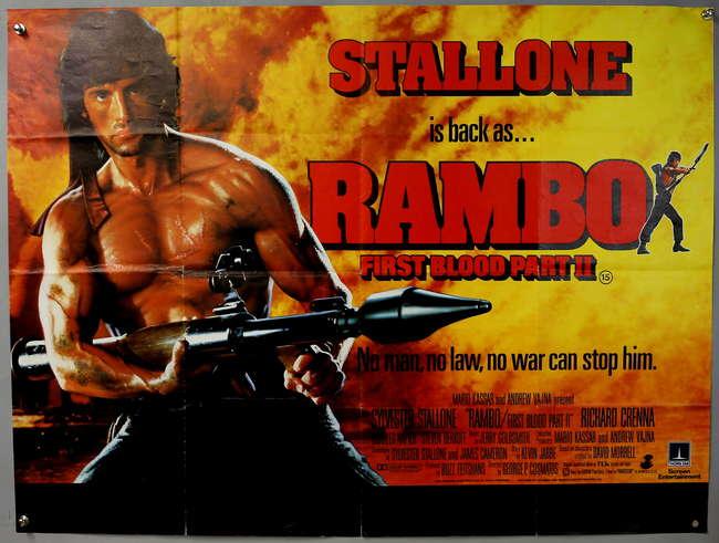 Ewbanks Surrey S Premier Auctioneers Lot 2235 Rambo First Blood Part Ii 1985 British Quad Film Poster