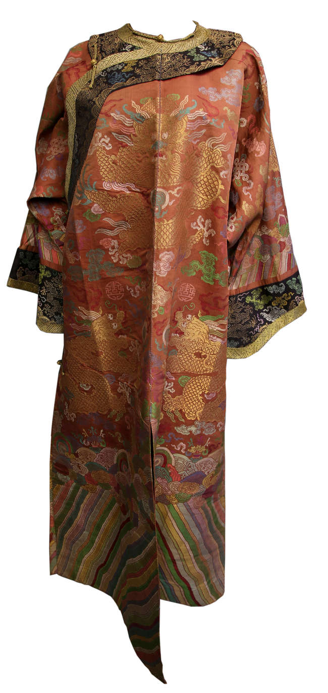 62470157d8696 Chinese Imperial court official Chi Fu robe with nine dragons, woven ...