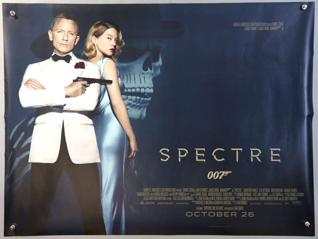 Ewbanks Surrey S Premier Auctioneers Lot 2186 James Bond Spectre 2015 Two British Quad Film Posters