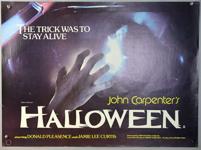 Halloween 1978 Movie Poster.John Carpenter S Halloween 1978 British Quad Film Poster