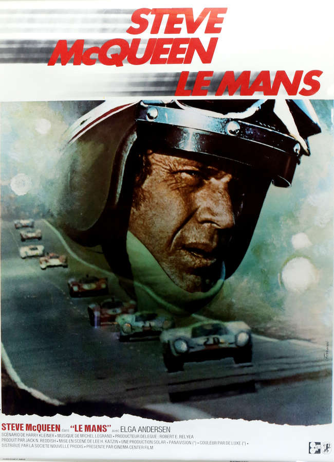 Le Mans 1971 French Medium Film Poster Starring Steve