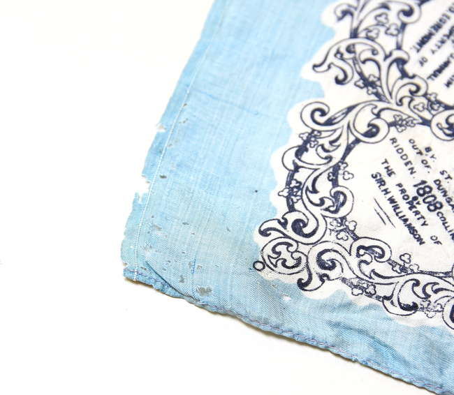 Derby silk scarf printed with illustration of Cal   Lot 1726