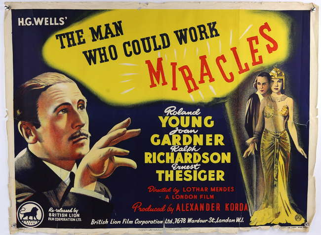 H.G. Wells' The Man Who Could Work Miracles - British Quad film ...