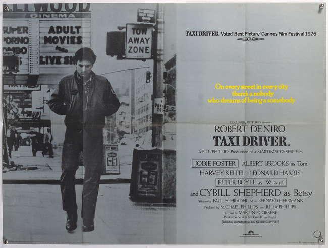 Taxi Driver (1976) British Quad film poster, starring Robert De ...
