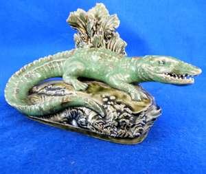 Rare Late 19th/ Early 20th century Royal Doulton figure of a crocodile