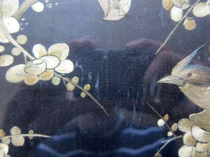Chinese silk panel decorated with birds 2116