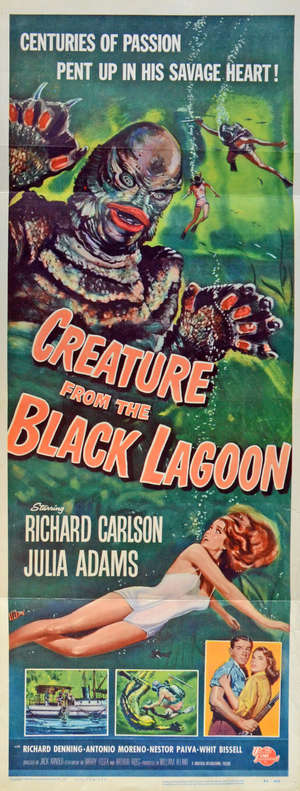 Creature from the Black Lagoon (1954) US Insert film poster
