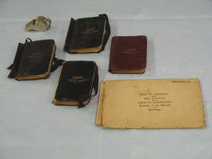 Staff Sergeant James Moore RA DCM First World War Diaries 4 vols 1915-1918 engraved whistle and various documents First World War Ypres 1915
