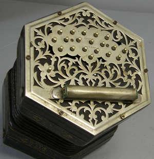 C. Jeffries 39 button concertina accordian