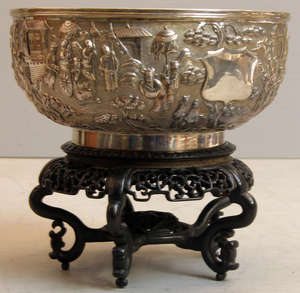 19th Century Chinese silver bowl