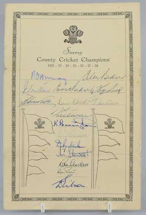 Surrey County Cricket Champions