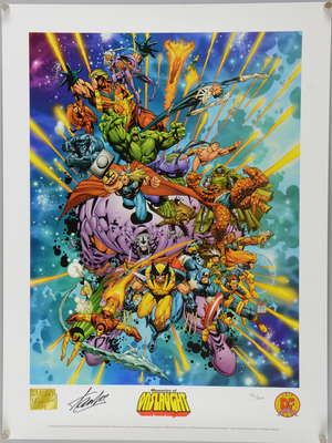 Memories Of Onslaught (2000) Marvel limited edition print signed by Stan Lee 42/200