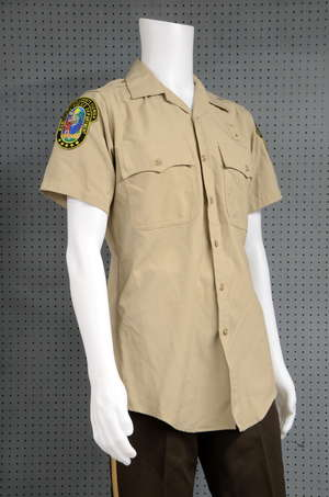 James Bond Casino Royale (2006) Miami Police Department uniform used in the airport action scenes by stunt double, with name Andy Merchant to inside, with accompanying provenance of purchase from Casino Royale Productions based at Pinewood Studios. P