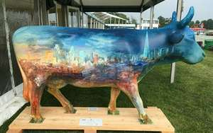 † Frontier Cow - Frontier Cow was hand painted by Alexander Creswell