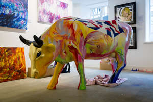 † Minna Moo - This amazing cow was the work of Minna George