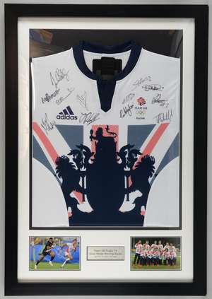 18f96c876 Team GB Olympic Rugby Sevens match shirt from Rio 2016 signed by the 12  members of