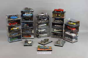 Collection of GE Fabbri James Bond cars,