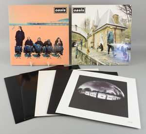 """Oasis - 12"""" vinyl's all mint original pressings one sided promos of 'Whatever', '(It's Good) To Be Free', 'Round Are Way', finished 12's of 'Some Might Say', 'Roll With It', 'Columbia' 2004 pressing & a 'Don't Believe The T"""