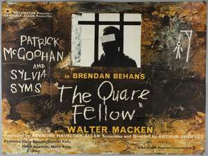 Two British Quad film posters with Irish interest: The Quare Fellow (1962) & I Was Happy Here (1966)