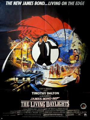 James Bond The Living Daylights (1987)British bus stop film poster