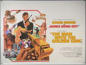 James Bond The Man With The Golden Gun (1974) British Quad film poster